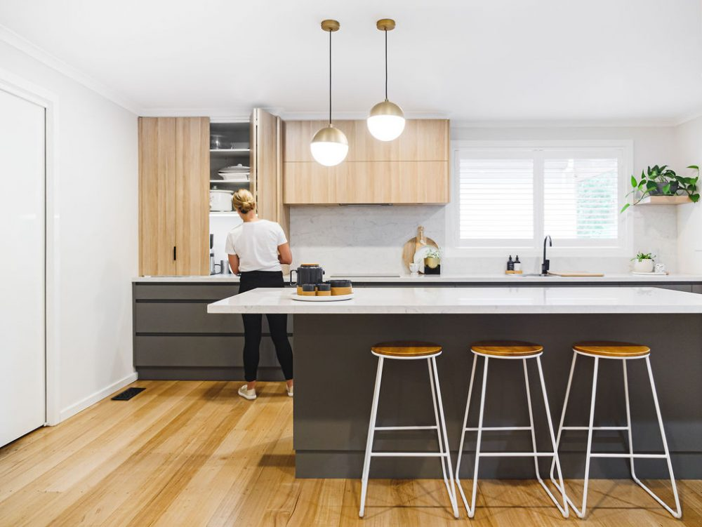 Open plan kitchen island kitchen design measurements