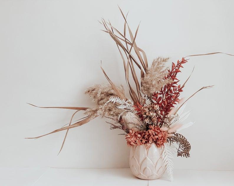 Dried floral arrangement by Botanical Haus Studios