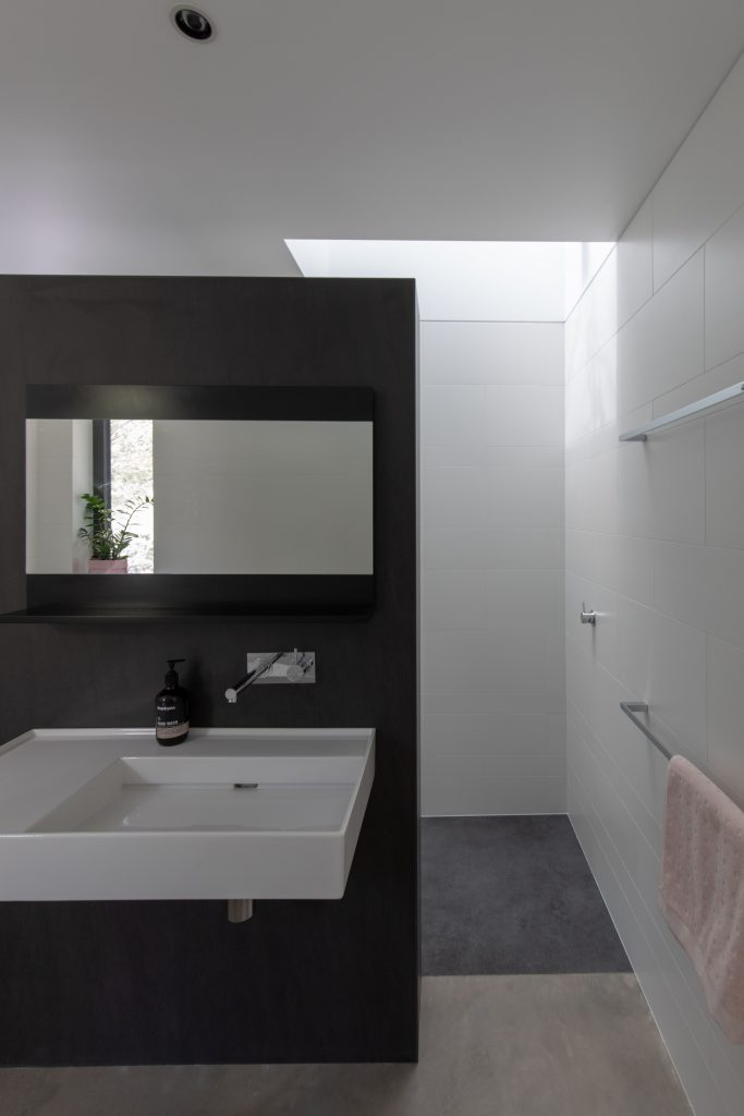 Bathroom details of Concrete House