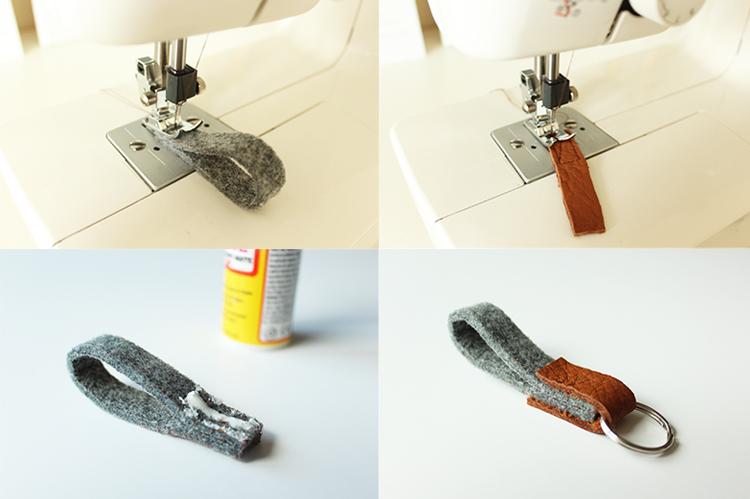 DIY leather and felt tutorial