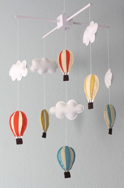 Felt balloon garland DIY