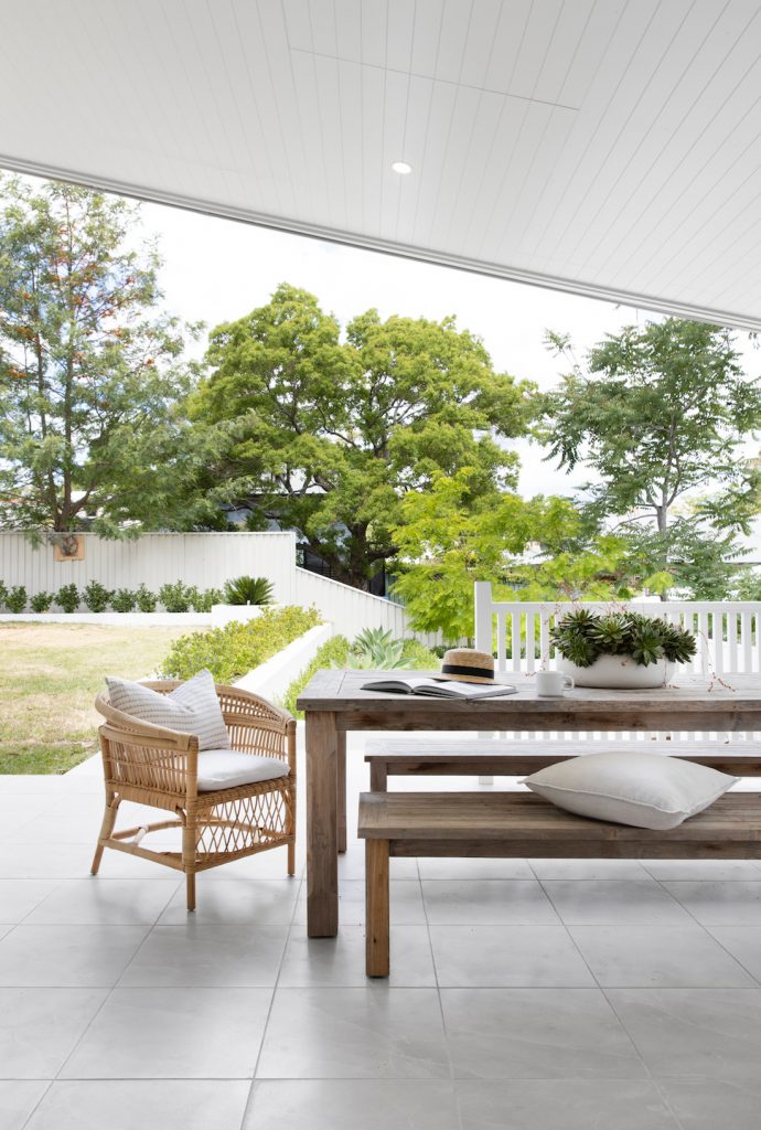 Bench seating for outdoor dining
