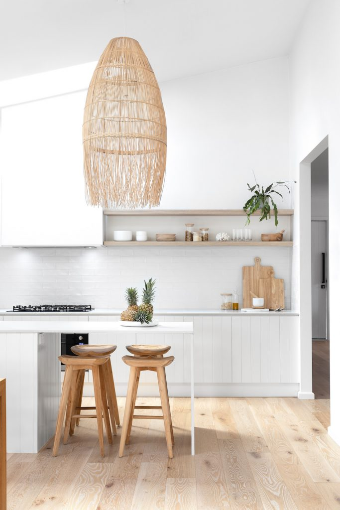 Kitchen with extra large pendant light