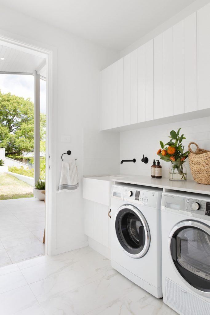 White laundry styling