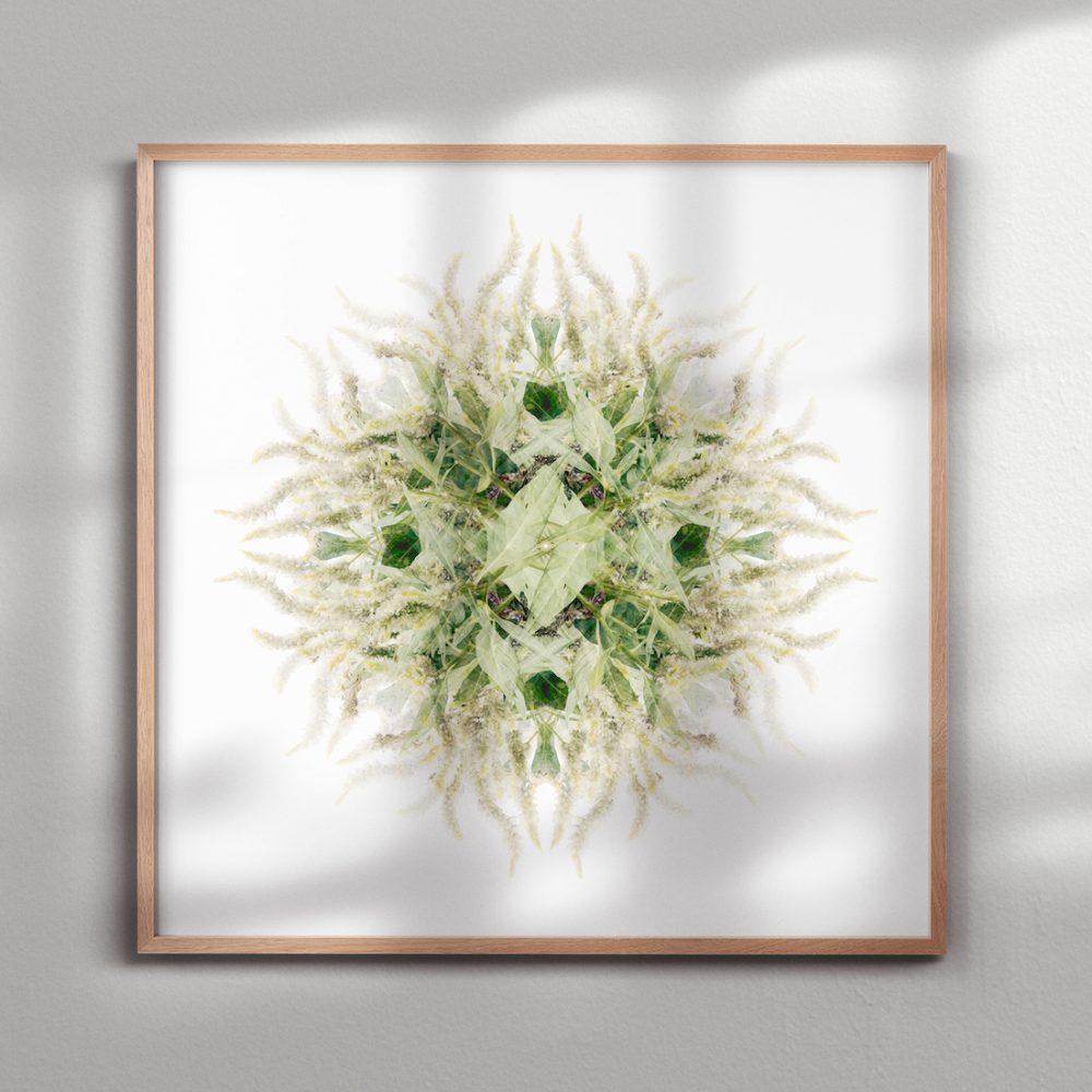 Paper and Flower green flower mandala
