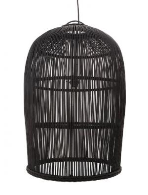 Black rattan pendant