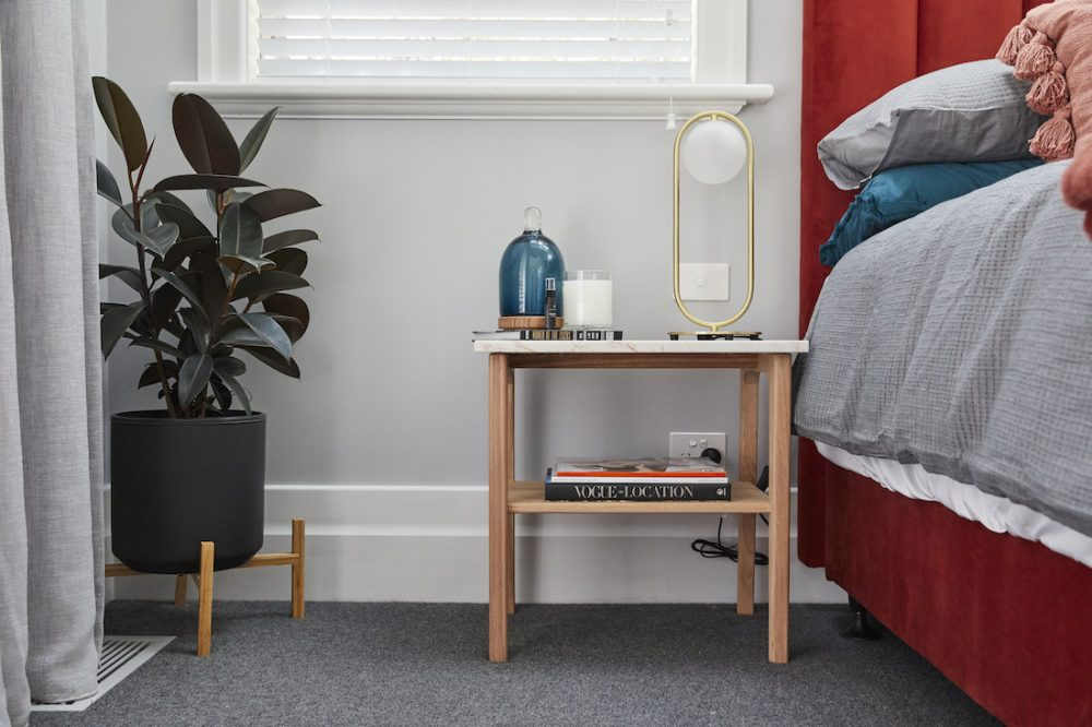 Harry and Tash guest bedroom week 1 The Block 2020 side table styling