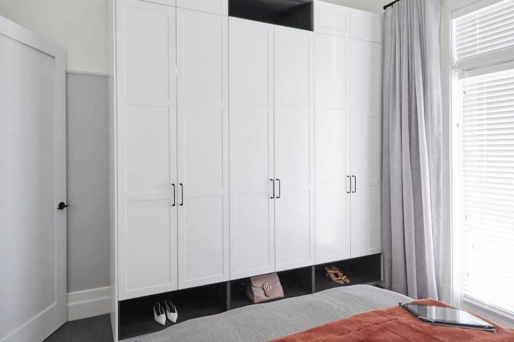 Harry and Tash guest bedroom week 1 The Block 2020 wardrobe