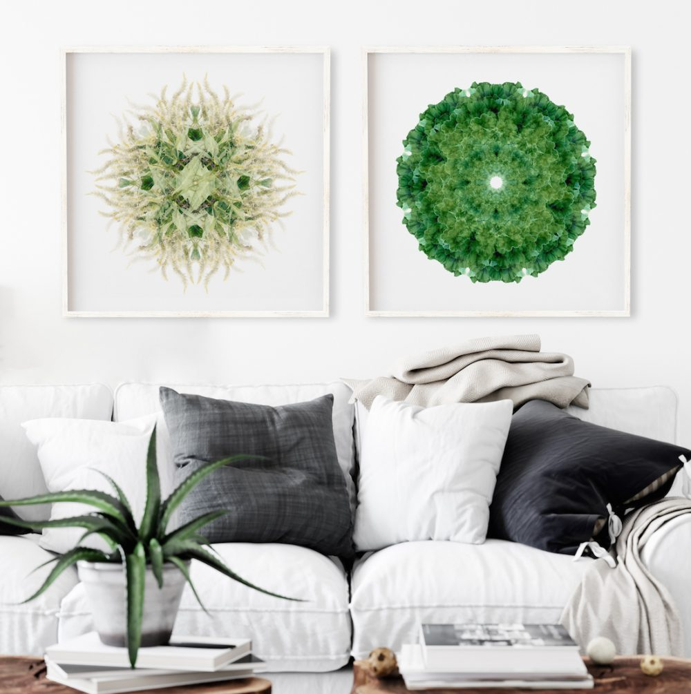 Paper and Flowers green art