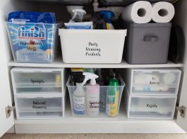 Organising under your kitchen sink