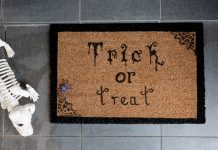 Birds eye DIY Halloween door mat