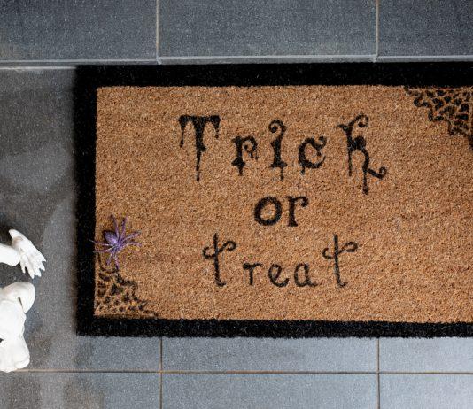 Birds eye DIY Halloween door mat