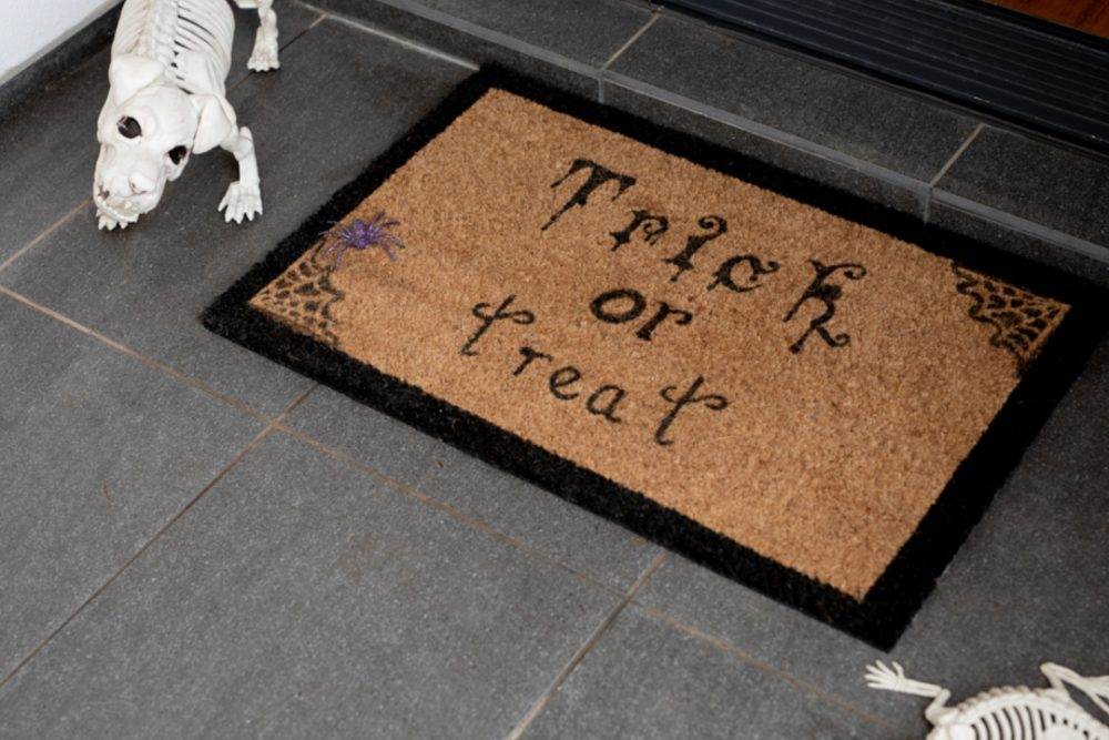 Completed door mat