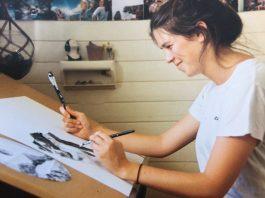 Emily Write of AHKI detailed graphite illustrations