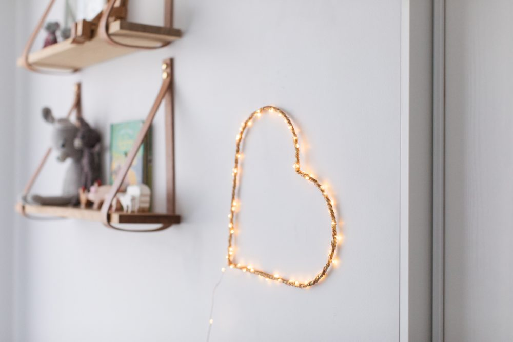 Feature image heart wall light