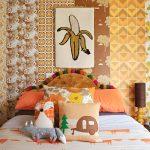 Flinders Nuthouse_mismatched bedroom wallpaper