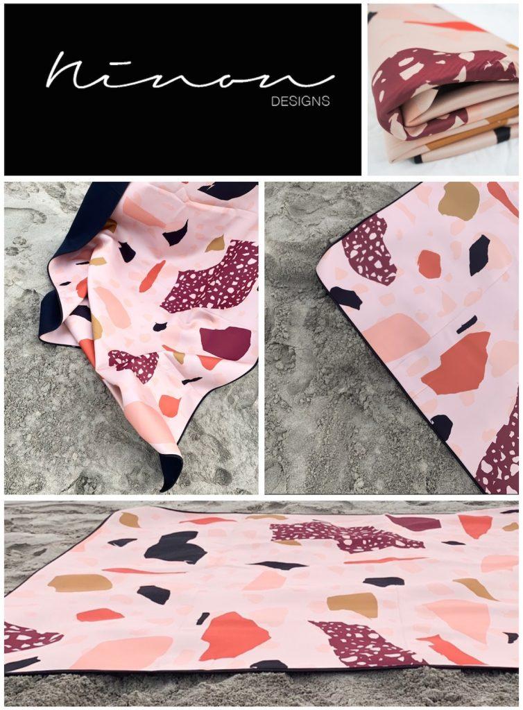 Ninon Designs_sand free beach mat_desert rose