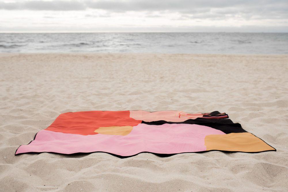 Ninon Designs_sand free beach mat_on beach