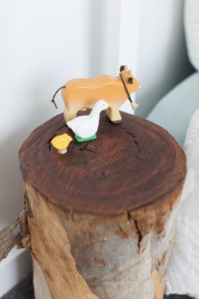 Personalised stump side table