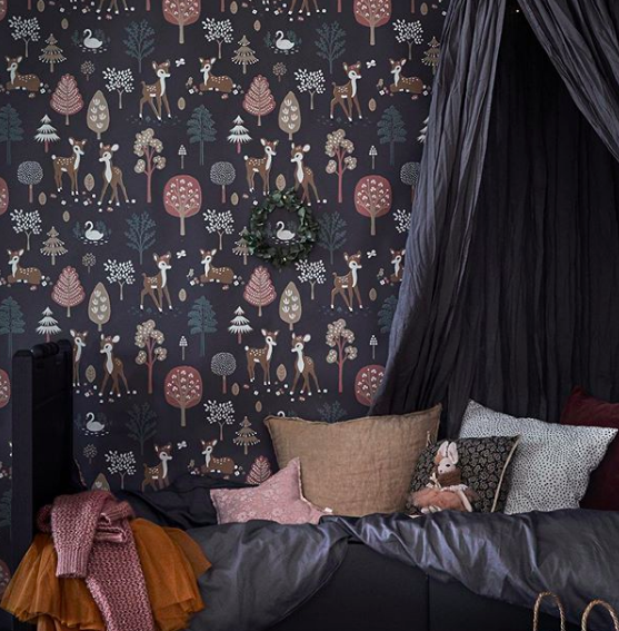 Style Luxe for less_dark blue wall paper