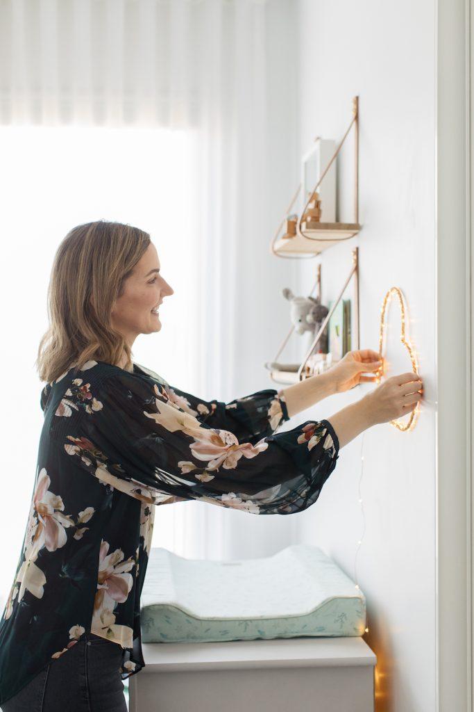 Style Curator heart light DIY