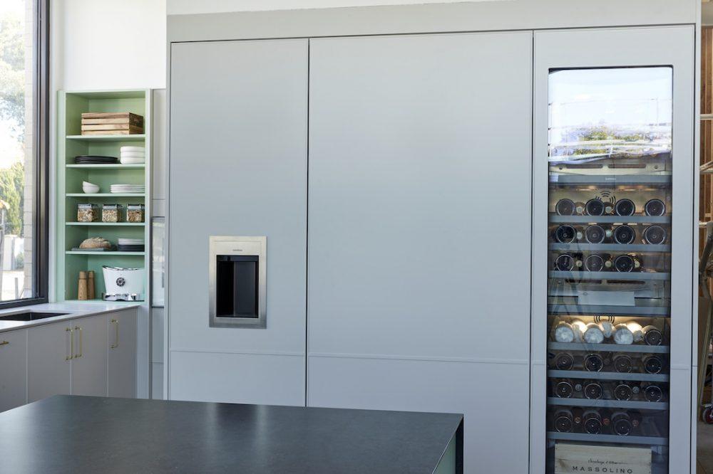 The Block 2020_week 6_Jimmy and Tam_kitchen_wine fridge kitchen reveal