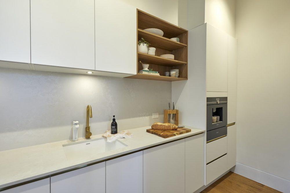 The Block 2020_week 6_Luke and Jasmin_kitchen_butlers pantry bench kitchen reveal