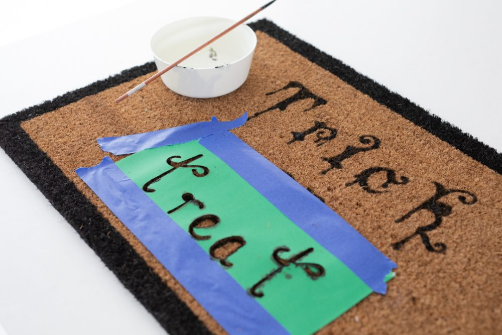 Use stencil to make mat