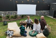 Complete outdoor cinema space