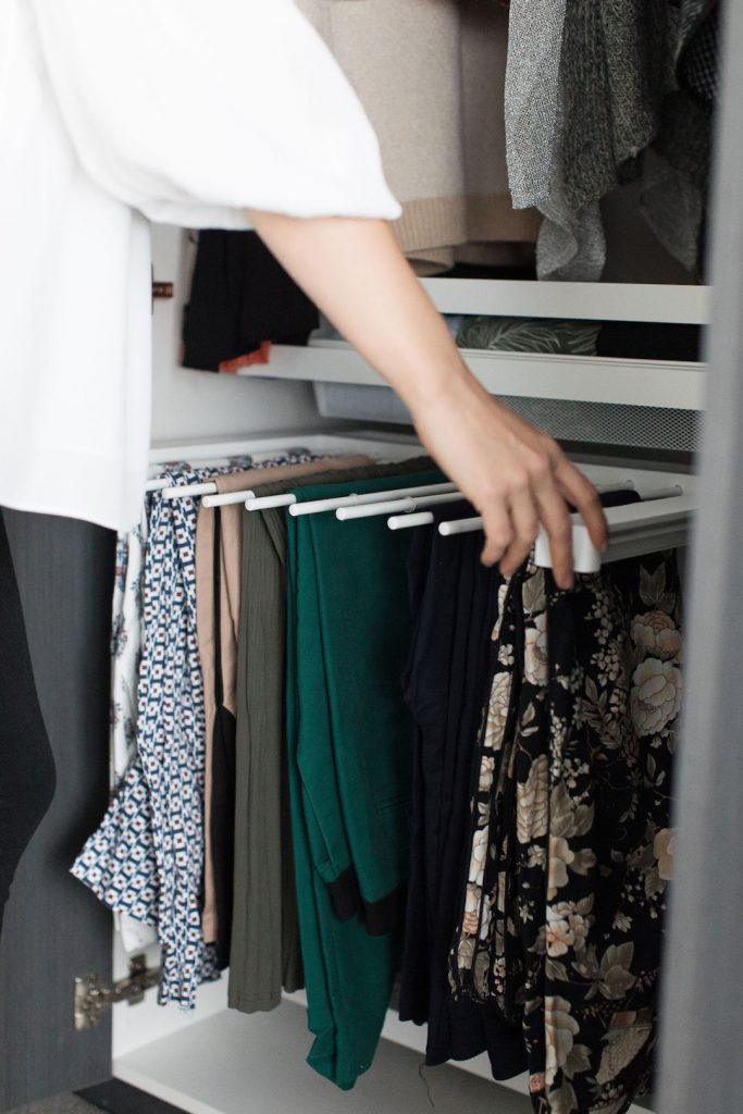 How to organise your wardrobe using proper storage solutions like Elfa pant rack