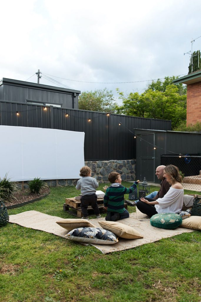 Family outdoor cinema space