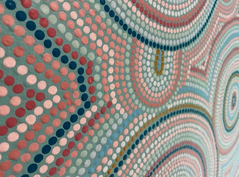 Lou Martin_close up of art