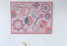 Lou Martin_pink circles art