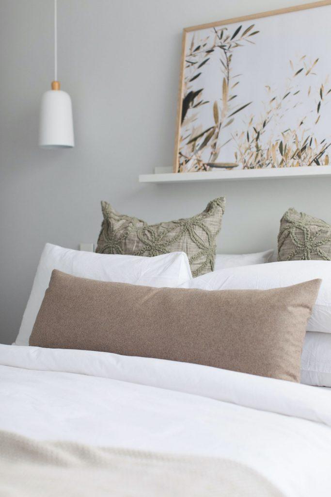 Recycled wool lumbar pillow