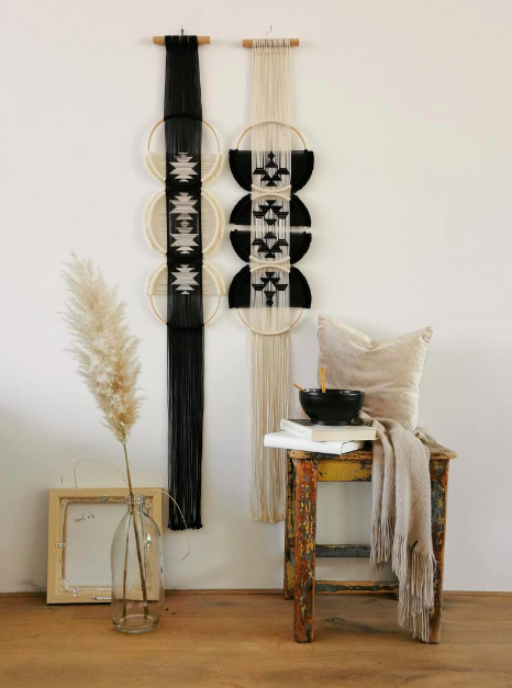 Studio Nom_black and cream wall hanging
