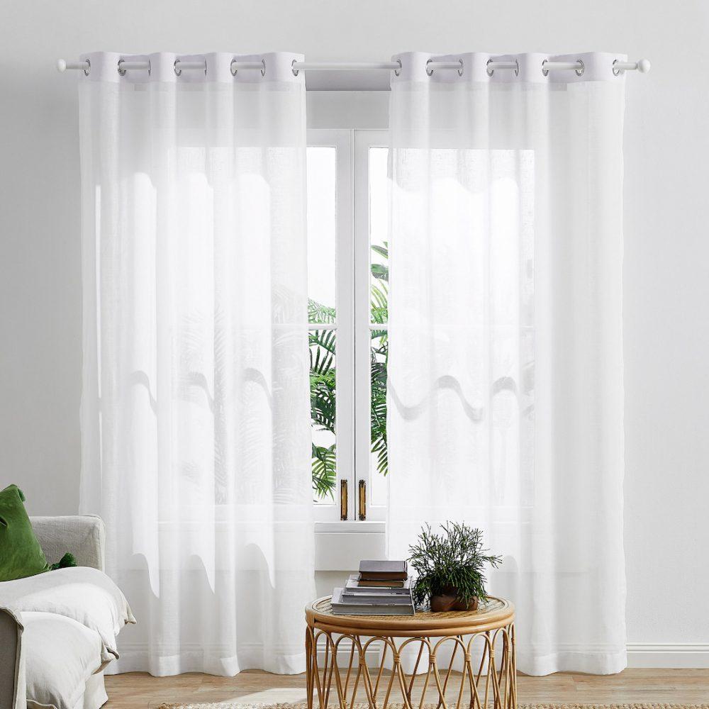 Sheer curtains in bedroom Decorating a rental bedroom