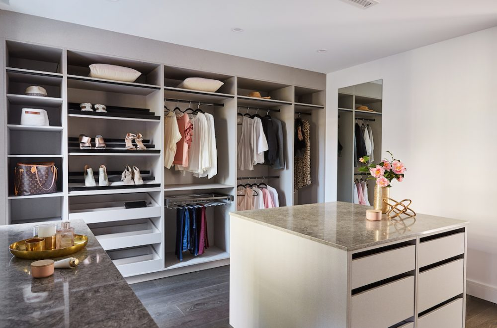 Walk in Wardrobes with Island Bench