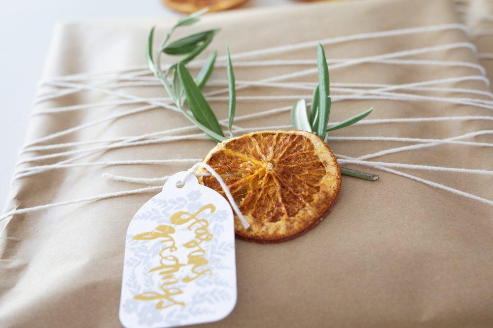 Close up details of orange slice
