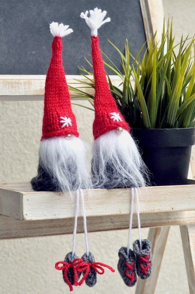 Australian handmade Christmas decor - elves