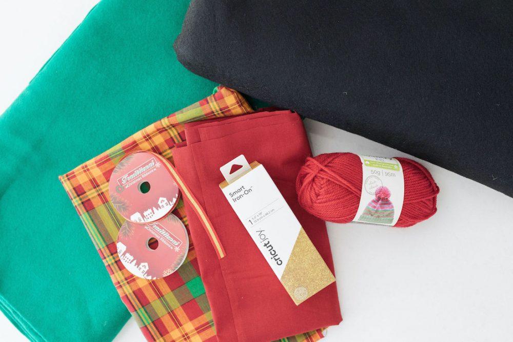 Items you will need to make Santa Sack