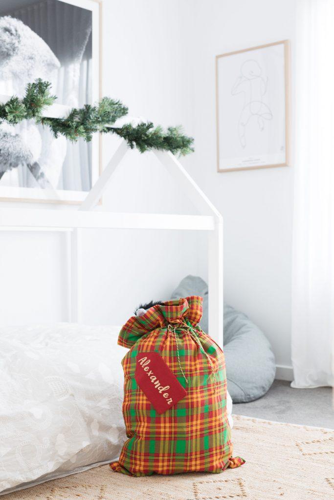Completed Santa sack