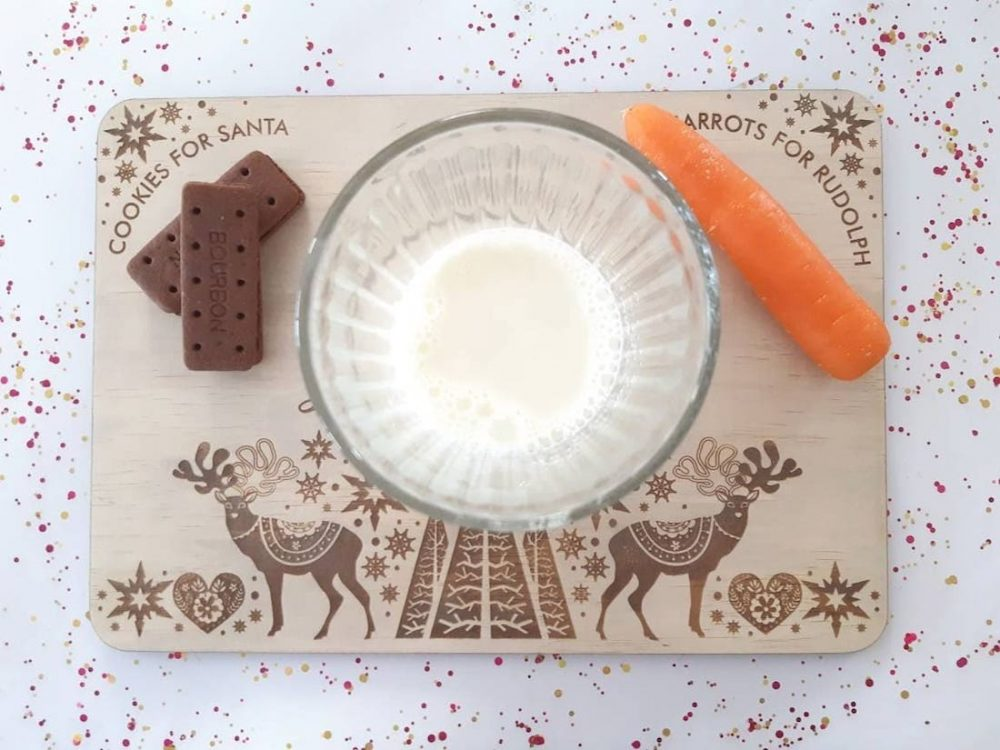 Australian handmade Christmas decor - Santa placemat
