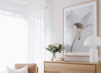 Contemporary dresser in bedroom