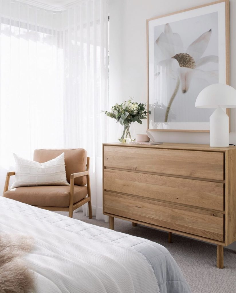 Contemporary dresser in bedroom