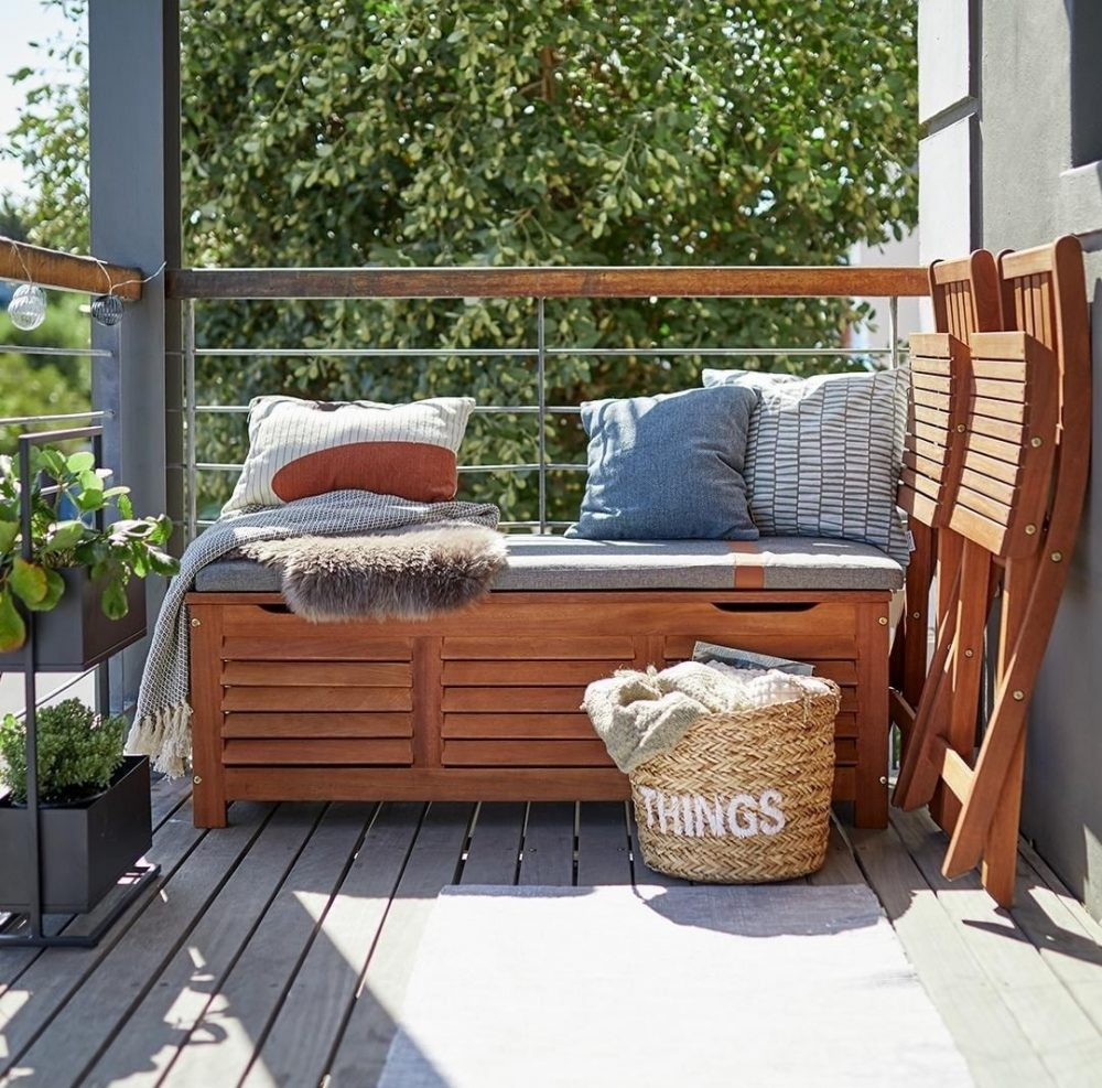 Outdoor space with storage