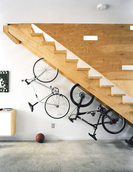 Under stair storage solution_bike rack_dwellcom