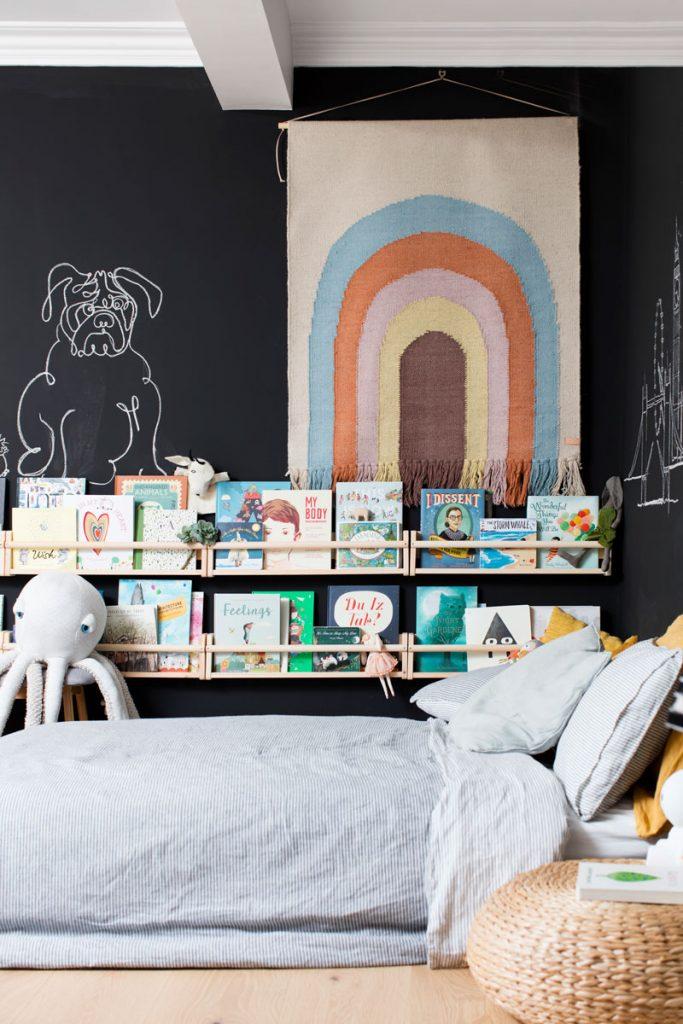 Bookshelf how to decorate a boy's bedroom
