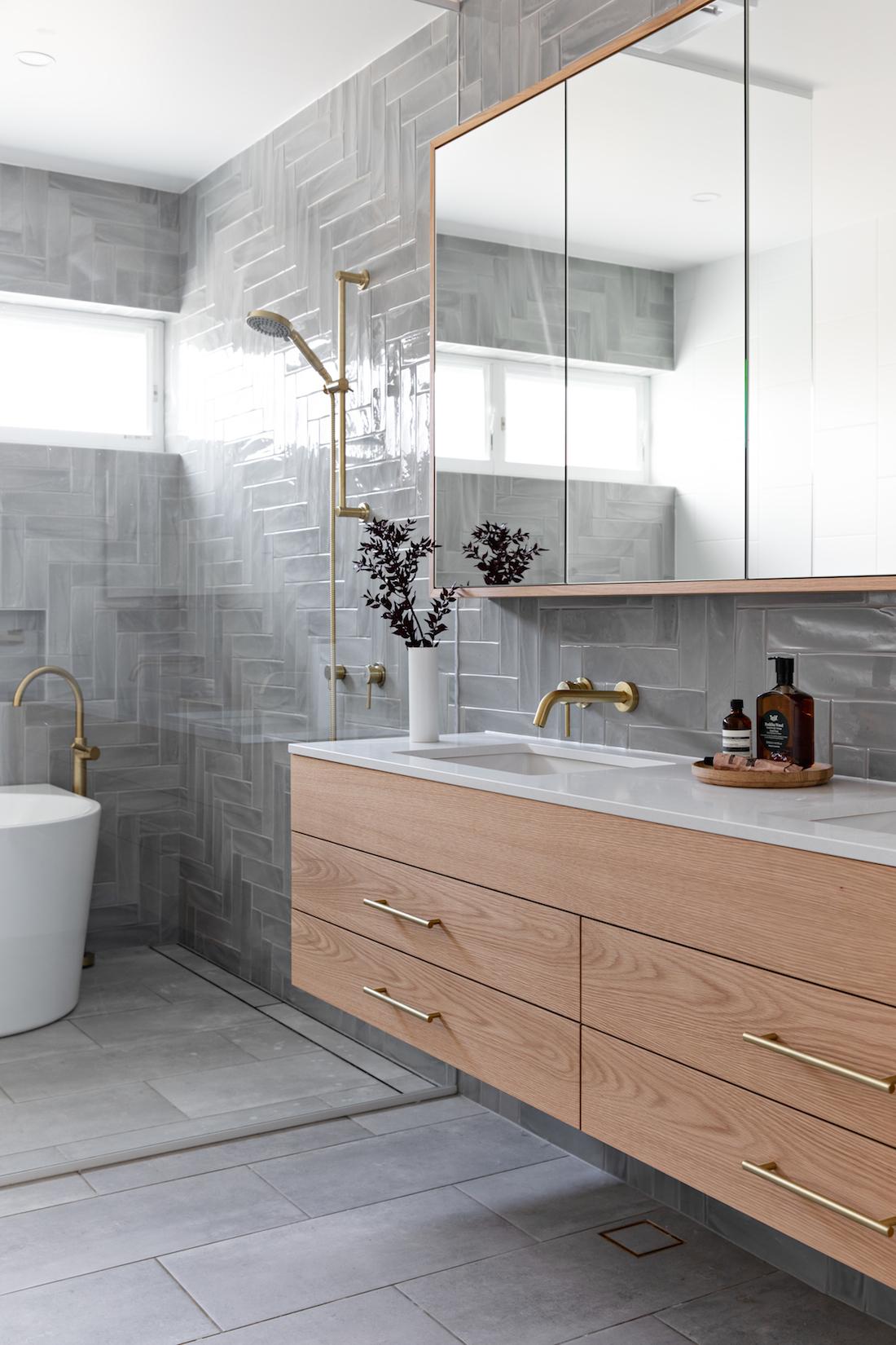 Californian Bungalow_Bone Made_grey bathroom cost of bathroom renovations