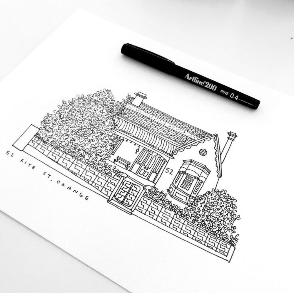 Georgia Draws a House