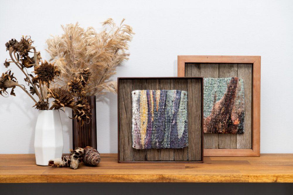 Tapestry art in handmade timber frames